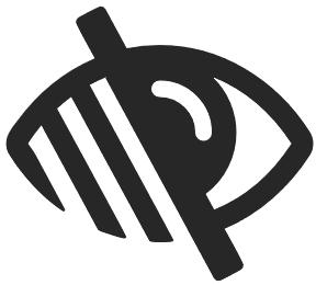 """Imagen con iconografía que representa """"discapacidad visual"""""""