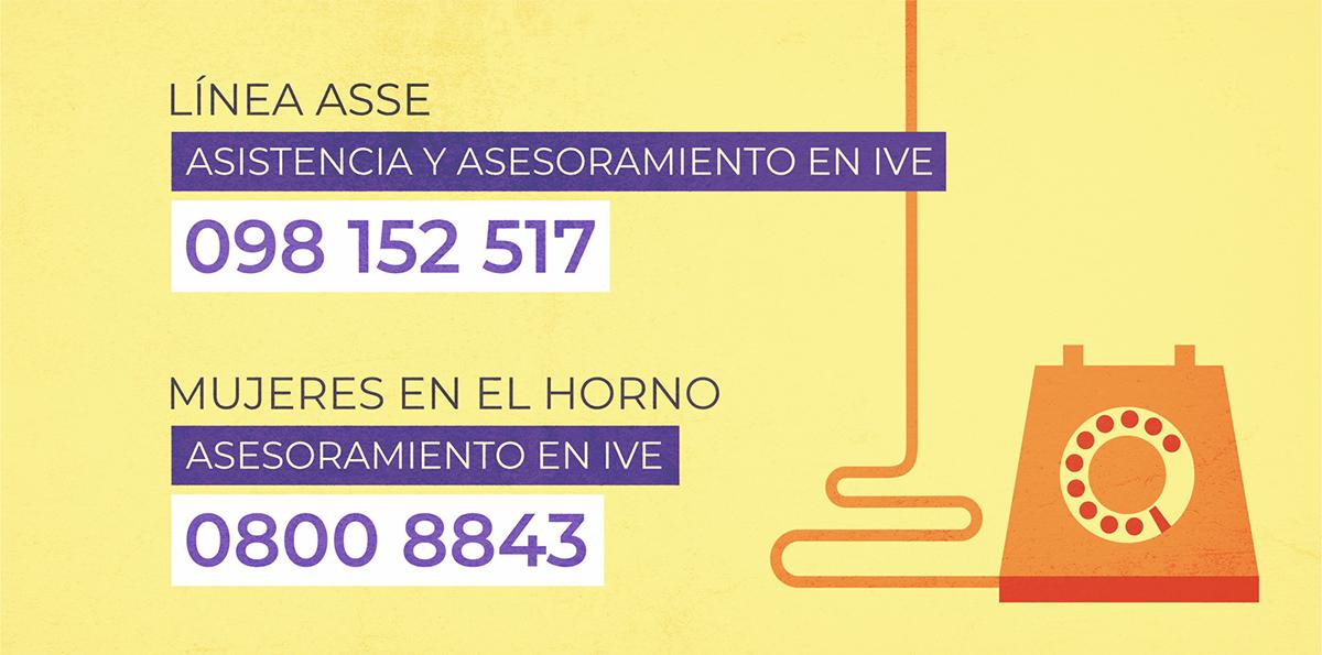 Línea ASSE asistencia y asesoramiento en IVE - 098152517 / Mujeres en el Horno - Asesoramiento en IVE 08008843