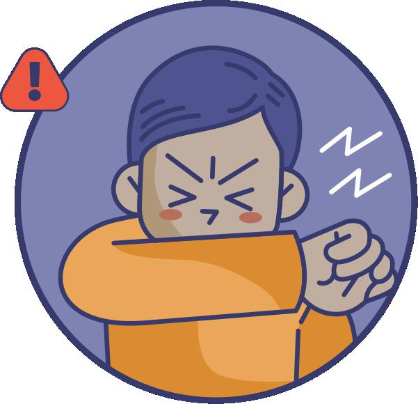 Si vas a toser o estornudar  usá un pañuelo desechable  o el pliegue de tu codo