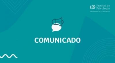 """Imagen con la palabra """"Comunicado"""""""
