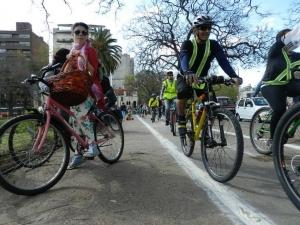 Inauguración del bicicircuito sur. Foto: Unibici