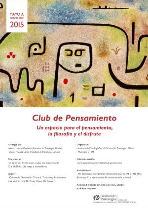 Club de Pensamiento: un espacio para el pensamiento, la filosofía y el disfrute