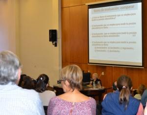 """""""Evaluación de los Aprendizajes"""" a cargo de la Prof. Alicia Camilloni de la Universidad de Buenos Aires (UBA)."""