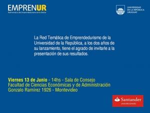 Presentación de resultados de la Red Temática de Emprendedurismo de la Universidad de la República