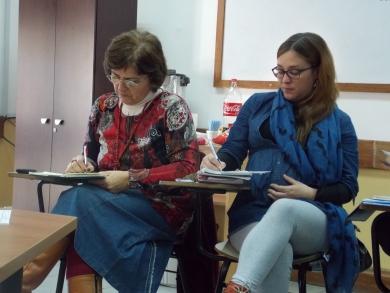 Susana Rudolf y Natalia De Ávila, en actividad pre congreso Instituto, agosto 2016
