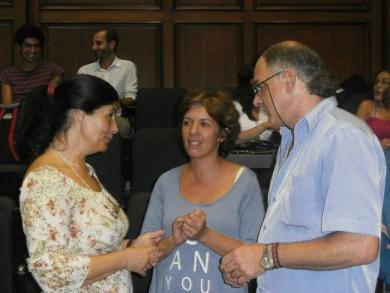 Anabel Beniscelli, Rossana Blanco y Eduardo Viera, integrantes del Instituto.