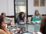 Reunión con docentes radicados en el interior del país