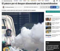 """""""El pánico por el dengue alimentado por la incertidumbre"""""""
