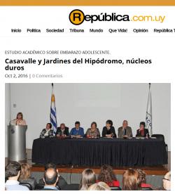 """""""Casavalle y Jardines del Hipódromo, núcleos duros"""""""