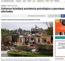 """Gobierno brindará asistencia psicológica a personas afectadas"" (nota de prensa)"
