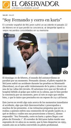 """""""Soy Fernando y corro en karts"""" (Nota de prensa)"""
