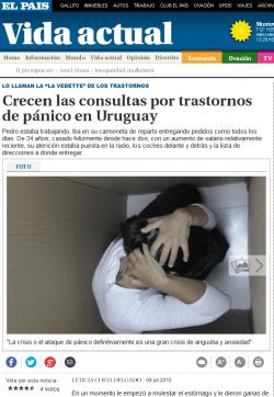 Crecen las consultas por trastornos de pánico en Uruguay (Nota de prensa)