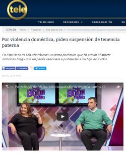 """""""Por violencia doméstica, piden suspensión de tenencia paterna"""""""