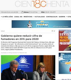 """""""Gobierno quiere reducir cifra de fumadores en 20% para 2020"""""""
