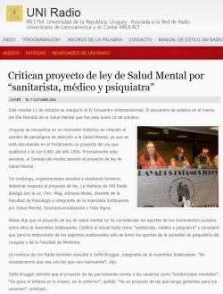 """""""Critican proyecto de ley de Salud Mental por 'sanitarista, médico y psiquiatra'"""""""