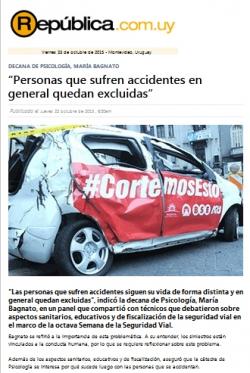 """""""Personas que sufren accidentes en general quedan excluidas"""" (nota de prensa)"""