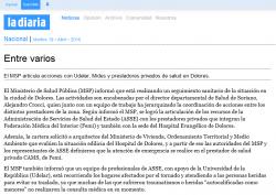 """""""Entre varios"""" (nota de prensa)"""
