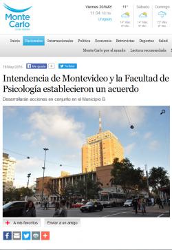 """""""Intendencia de Montevideo y la Facultad de Psicología establecieron un acuerdo"""""""