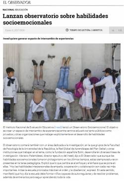 """""""Lanzan observatorio sobre habilidades socioemocionales"""""""
