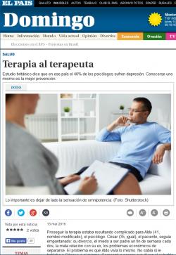 """""""Terapia al terapeuta"""""""