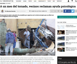 """""""A un mes del tornado, vecinos reclaman ayuda psicológica"""""""