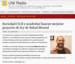 """""""Sociedad Civil y academia buscan mejorar proyecto de ley de Salud Mental"""""""