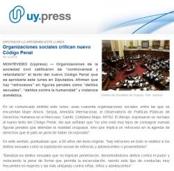 """""""Organizaciones sociales critican nuevo Código Penal"""""""