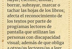 """Marcador de libro de la campaña """"Lectura para todxs"""""""